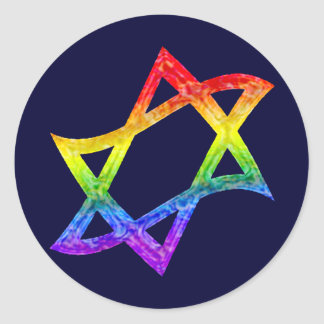 Rainbow Star of David Stickers