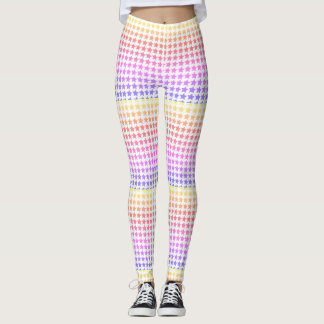 Rainbow star patterned leggings