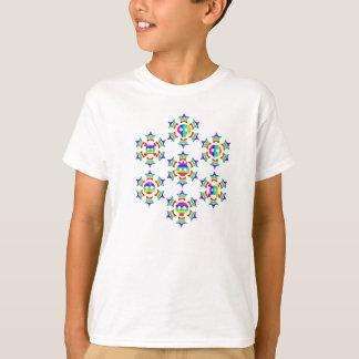 Rainbow Star Skull Flake kidsT-shirt T-Shirt
