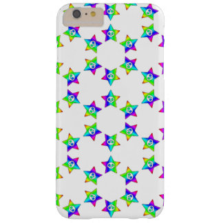 Rainbow Star Skulls 2 Barely There iPhone 6 Plus Case