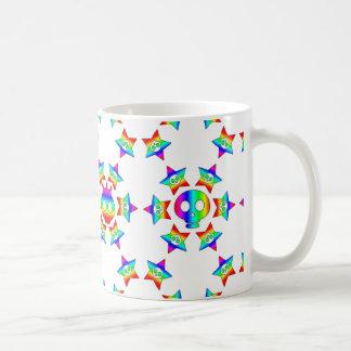 Rainbow Star Skulls mug