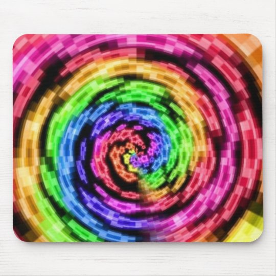 Rainbow Star Vortex Mouse pad