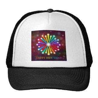 Rainbow Starburst Happy New Year Cap