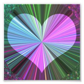 Rainbow Starburst Heart Photo