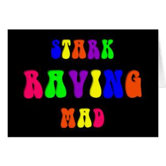 "Rainbow ""Stark Raving Mad"" Greeting Card"