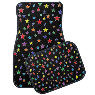 Rainbow Starry Starry Night Car Mats