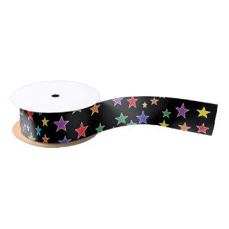 Rainbow Starry Starry Night Ribbon Satin Ribbon