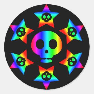 Rainbow Stars and Skulls 3 sticker
