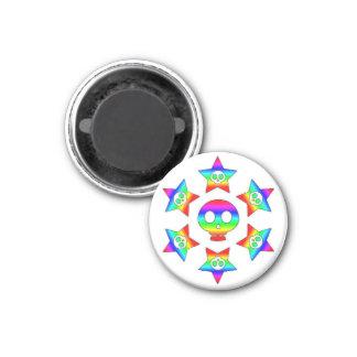 Rainbow Stars and Skulls magnet