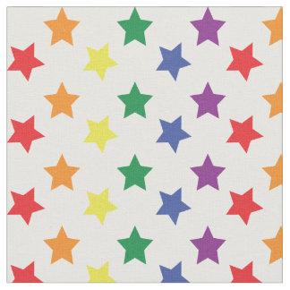 Rainbow Stars Chic Custom Pattern Fabric