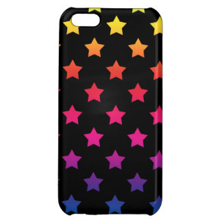 Rainbow Stars over Black Background Pattern iPhone 5C Cover