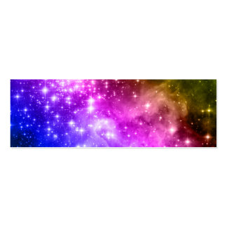 Rainbow Stars Pack Of Skinny Business Cards