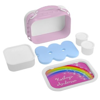 Personalised Rainbow Lunch Boxes