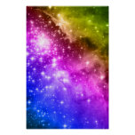 Rainbow Stars Poster
