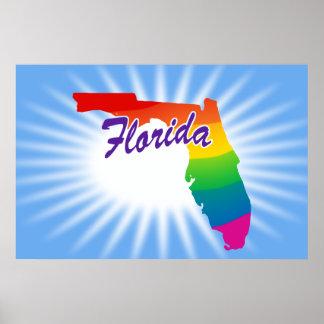 Rainbow State Of Florida Print