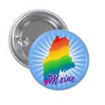 Rainbow State Of Maine 3 Cm Round Badge