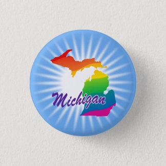 Rainbow State Of Michigan 3 Cm Round Badge