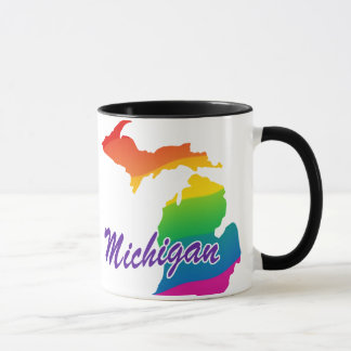 Rainbow State Of Michigan Mug