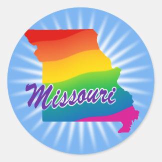 Rainbow State Of Missouri Classic Round Sticker
