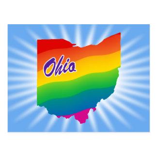 Rainbow State Of Ohio Postcard