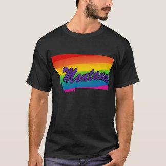 Rainbow State Outline Montana T-Shirt