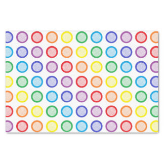 Rainbow Static Circles Tissue Paper