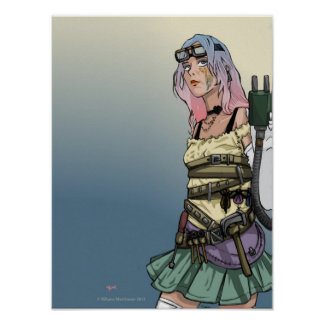 Rainbow Steam Punk Print