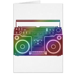 Rainbow Stereo Greeting Card