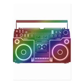 Rainbow Stereo Postcard