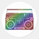 Rainbow Stereo Round Sticker