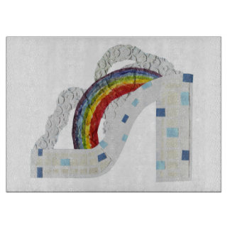 Rainbow Stiletto Chopping Board