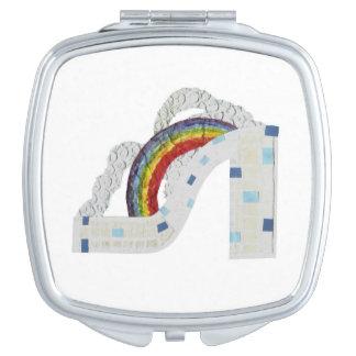 Rainbow Stiletto Compact Mirror
