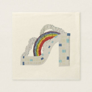 Rainbow Stiletto Ecru Napkins Disposable Napkin