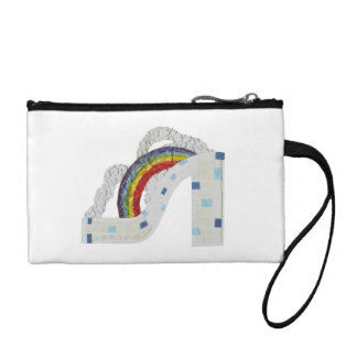 Rainbow Stiletto Key Coin Clutch Coin Wallet