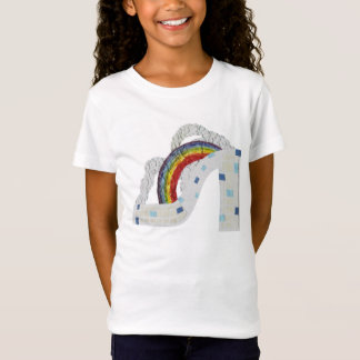 Rainbow Stiletto No Background Girl's T-Shirt