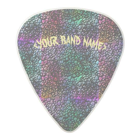 rainbow Stones Acetal Guitar Pick