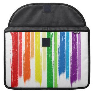 RAINBOW STREAKS -.png Sleeves For MacBooks