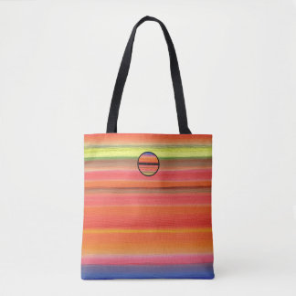 Rainbow Stripe Color Gradient, Sunset Colors Tote Bag