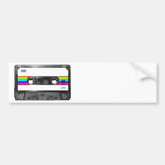 Rainbow Stripe Label Cassette Bumper Sticker