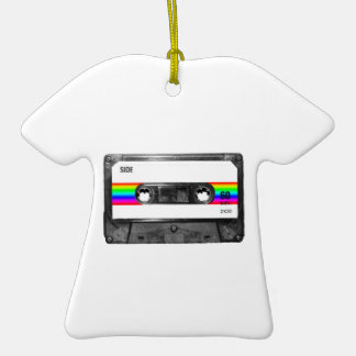 Rainbow Stripe Label Cassette Ornaments