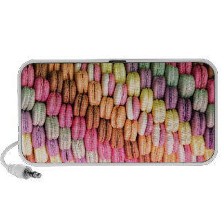 Rainbow Stripe of Stacked French Macaron Cookies Portable Speakers