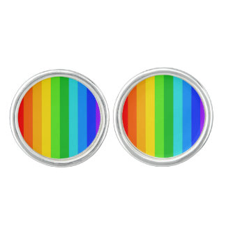 Rainbow Stripe Pattern #2 Cufflinks