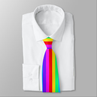Rainbow Stripe Pattern Tie
