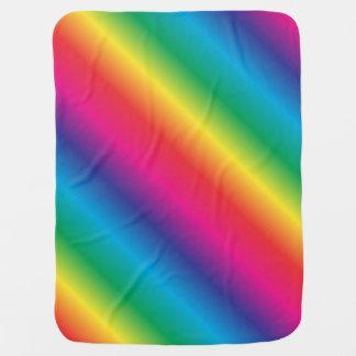 Rainbow Striped Diagonal Baby Blanket