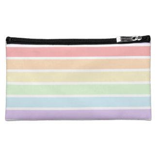 Rainbow Striped Medium Cosmetic Bag