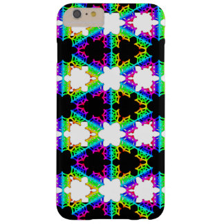 Rainbow Striped Spider Web Barely There iPhone 6 Plus Case