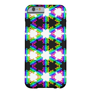 Rainbow Striped Spider Web Barely There iPhone 6 Case