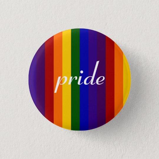 Rainbow Stripes 3 Cm Round Badge