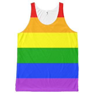 """RAINBOW STRIPES"" All-Over PRINT TANK TOP"
