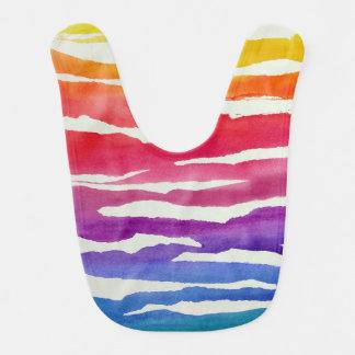 Rainbow Stripes Bib